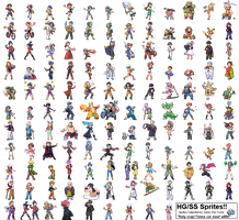 Pokemon HG-SS Trainer Sprites by Dann-The-Yoshi
