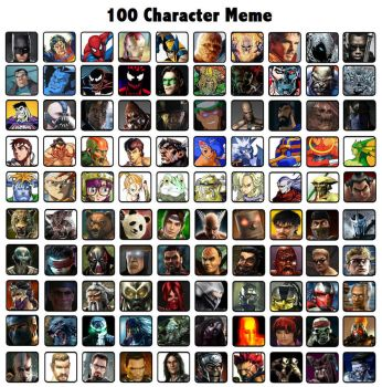 100 Character Meme by Gery850