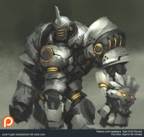Reinhardt inspired character sketch by XiaTaptara