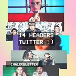 PACK 14 HEADERS para TWITTER by inaloveletter