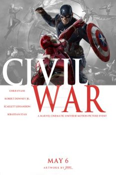 Captain America: Civil War (Comic Cover Style) by jonesyd1129