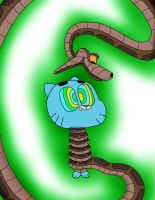 Kaa and Gumball Color by jerrydestrtoyer