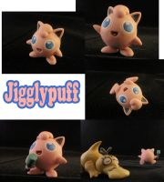 Jigglypuff Sculpture: Collage by ClayPita