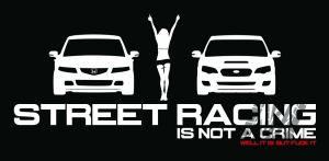 Street Racimg is mot a crime! Well...Tshirt Detail by MayhemD