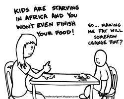 Starving Kids in Africa by endlessorigami
