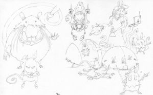 Seed Rats wip by Sketchy-on-Details