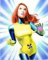 Jean Grey Study by mikemayhew