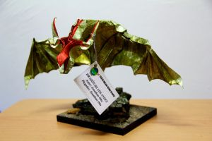 Dragon of paper in origami by chibi-L8
