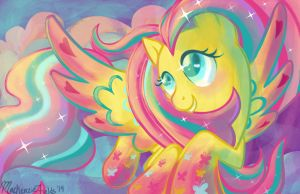Fluttershy Rainbow Power by GhostlyMuse