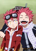 Natsu Dragneel and Natsu Dragion by Lord-Zeref