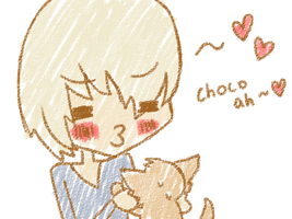 Eunhyuk and Choco by dorkybunnie