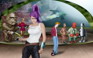 Futurama: Leela and Cast by Biohaz-Daddy
