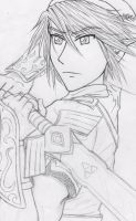 Link Twilight Princess sketch 2 by Hyrulekeyblade