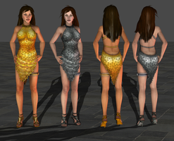 Lara and Doppie Partydress wip by tombraider4ever