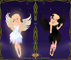 White Swan, Black Swan by VarietyChick