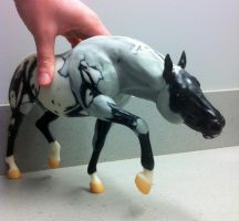 Battlecry custom breyer WIP 2 by pookyhorse