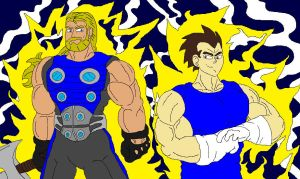 Thor and Vegeta by McGreger16