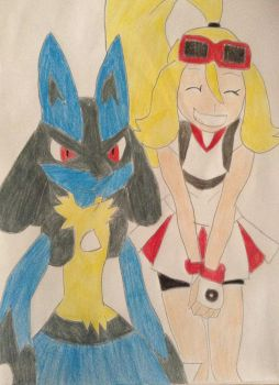 Korrina and Lucario by FlyingLion76