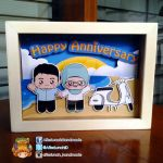 Vespa, Beach and Us Pop-up Frame by tieq