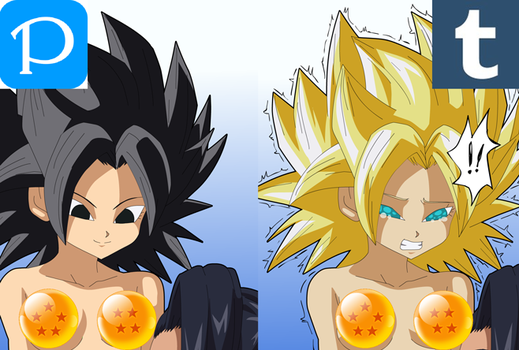 Caulifla and Kale CROPPED AND CENSORED by Zero-Q