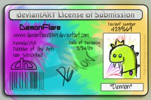 Deviant License by DemonFlare2343