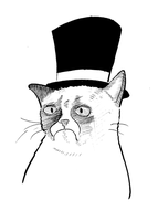 Grumpy Cat in a Top Hat by MrWolfeConcoctions