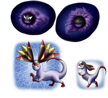 PN: Payment: Gastly and Helioptile by Bulbiekins