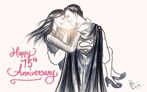 Happy 75th Anniversary, Lois and Clark! by dumblyd0re