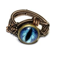 Steampunk Jewelry - Ring - Frost Blue Dragon by CatherinetteRings