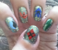 Ronin Warriors Nails by MikariStar