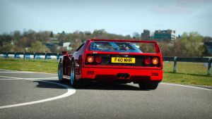 Ferrari F40, rear by FurLined
