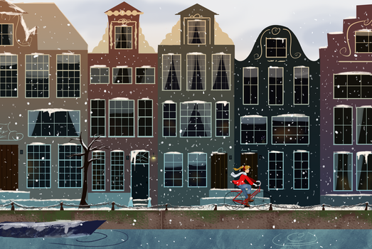 Amsterdam by Linsketches