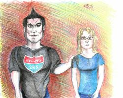 Jorge and Me (cartoon fun!) by Anita-Sanderson