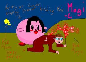 Kirby as Snape helping Harry by Hero-Potter