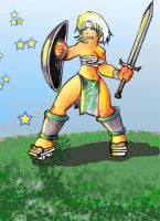 warrior girl 30 by hect06