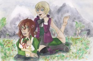 Voice Actor Crossover : Hungary and Alois Trancy by Sephiano