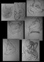 anthro heads after foley dump by Dr-Pen