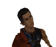 Young Auron from FFX Game Disk by Renmiri