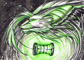 ACEO 57 - Chesire by DragonOfSilverStars