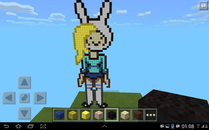 fionna in minecraft by I-Love-marshall-lee