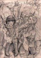 In the Trenches by thewaywardsoldier
