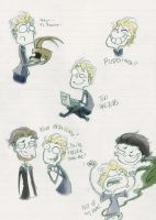Sketches - Tom Hiddleston by MmeRoronoa