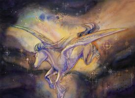 Pegasus With Nebula by Celeste23forever