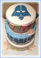 Star Wars and Cath Kidston Wedding Cake! by gertygetsgangster