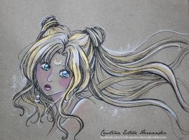 Colour sketch - WhiteandGold - Fanart Sailor Moon by CrisAngy88