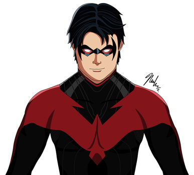 Richard Grayson - Nightwing by asemharun