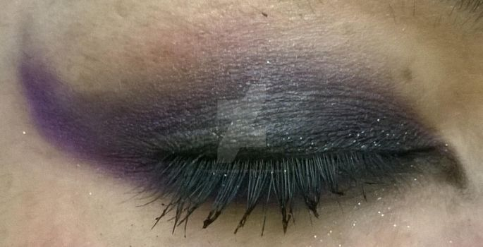 MLP Themed Eye Shadow Experiment: Luna by alicedoomsday