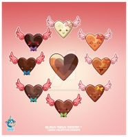 Kawaii Chocolate Heart Spec 2 by KawaiiUniverseStudio