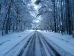 Snowy Road. by JoeTheDeathGod