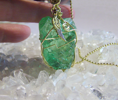 Andara Crystal Green Wire Wrapped by mymysticgems